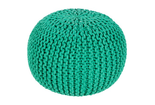 Pouf-Cabled Emerald - 360