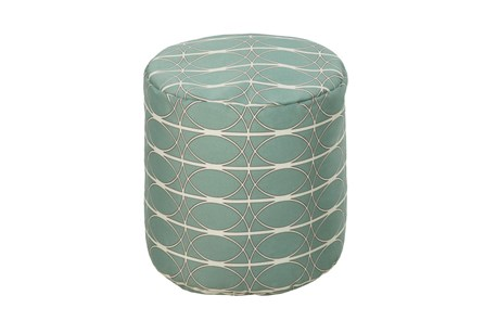 Pouf-Medallion Teal - Main