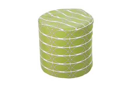 Pouf-Medallion Lime - Main
