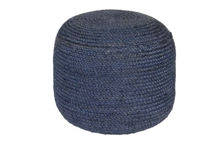 Pouf- Navy Jute - Main
