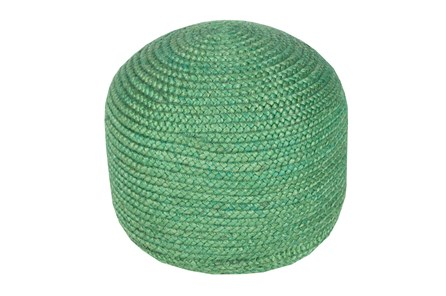 Pouf- Emerald Jute - Main