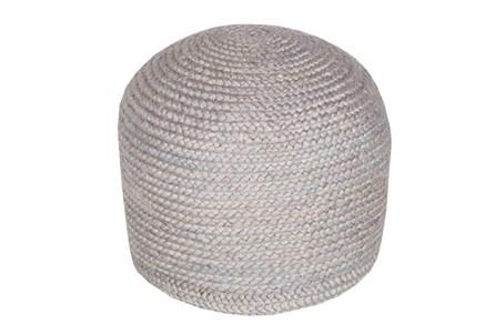 Pouf- Grey Jute