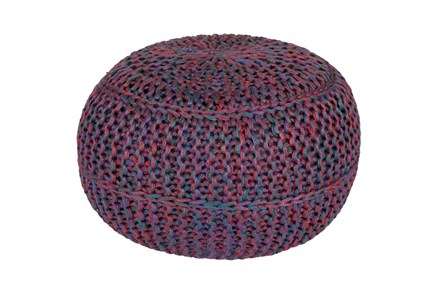 Pouf-Cabled Amethyst - Main