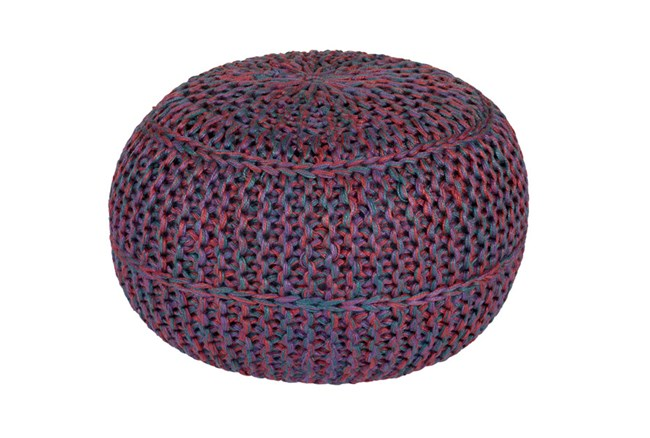 Pouf-Cabled Amethyst - 360