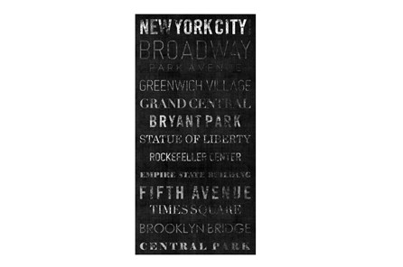 Picture-Typography B & W New York 24X48 - Main