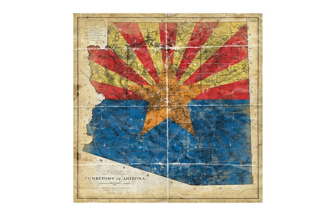 Picture-Az State Flag 38X38 - 360