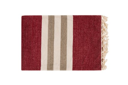 Accent Throw-Dermot Burgundy - Main
