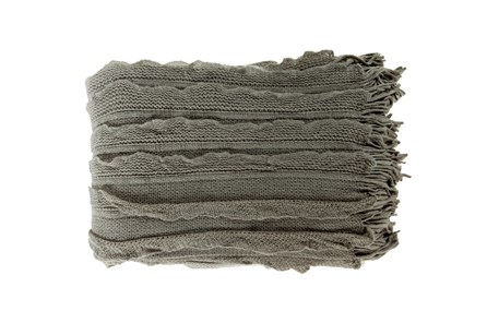 Accent Throw-Gabbi Charcoal - Main