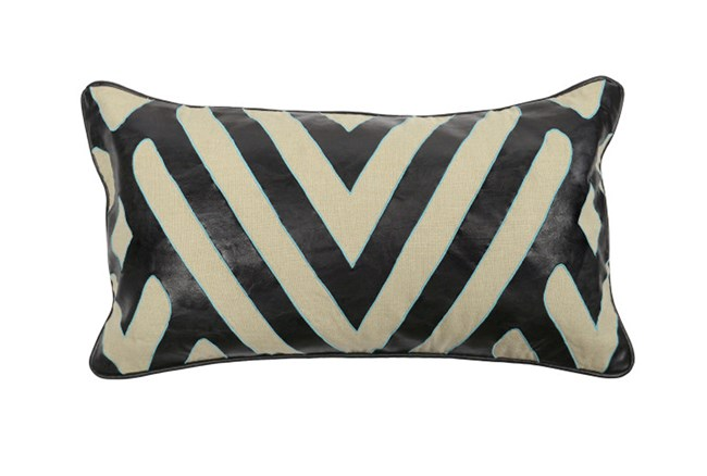 Accent Pillow-Zabella Sky Black 14X26 - 360