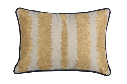 Accent Pillow-Talbot Indigo Gold 14X20 - Main
