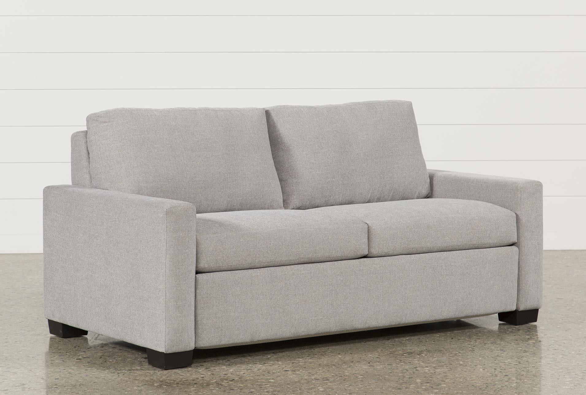 mackenzie silverpine queen sofa sleeper living spaces rh livingspaces com sofa sleeper with air mattress sofa sleeper with storage