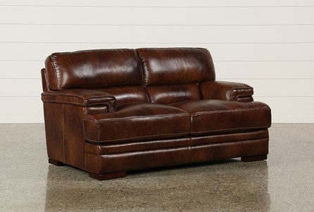 Rodrick Leather Loveseat