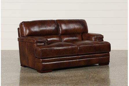 Rodrick Leather Loveseat - Main