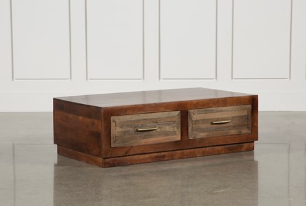 Walnut 4-Drawer Coffee Table