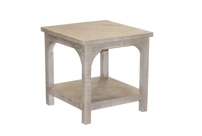 Pickle Grey Side Table - 360