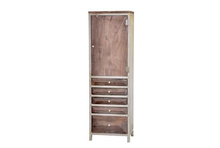 Espresso Finish 5-Drawer Tall Cabinet