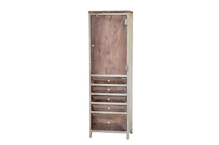 Espresso Finish 5-Drawer Tall Cabinet - Main