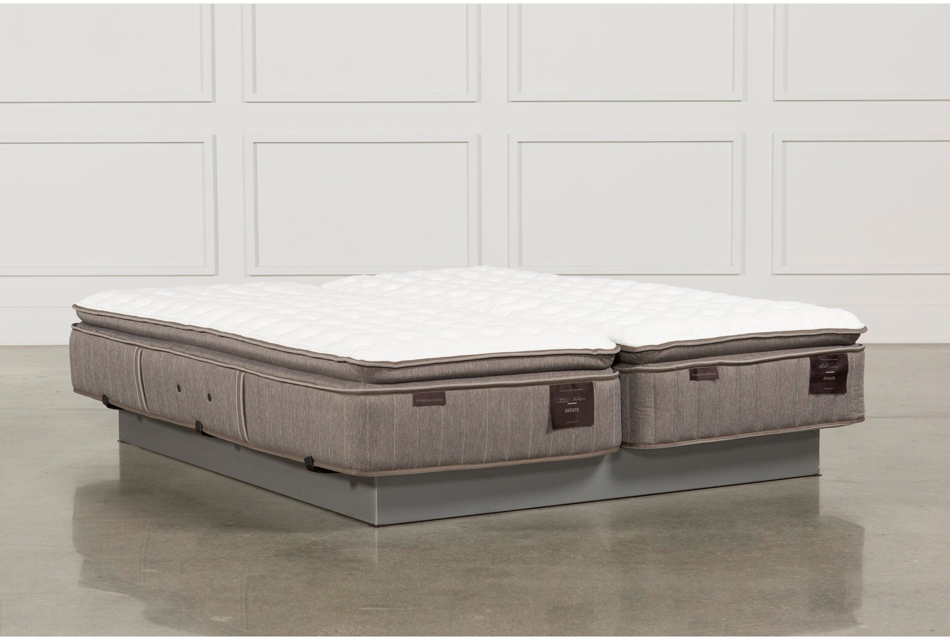 Scarborough Firm Euro Pillow Top Eastern King Mattress Set Living Spaces