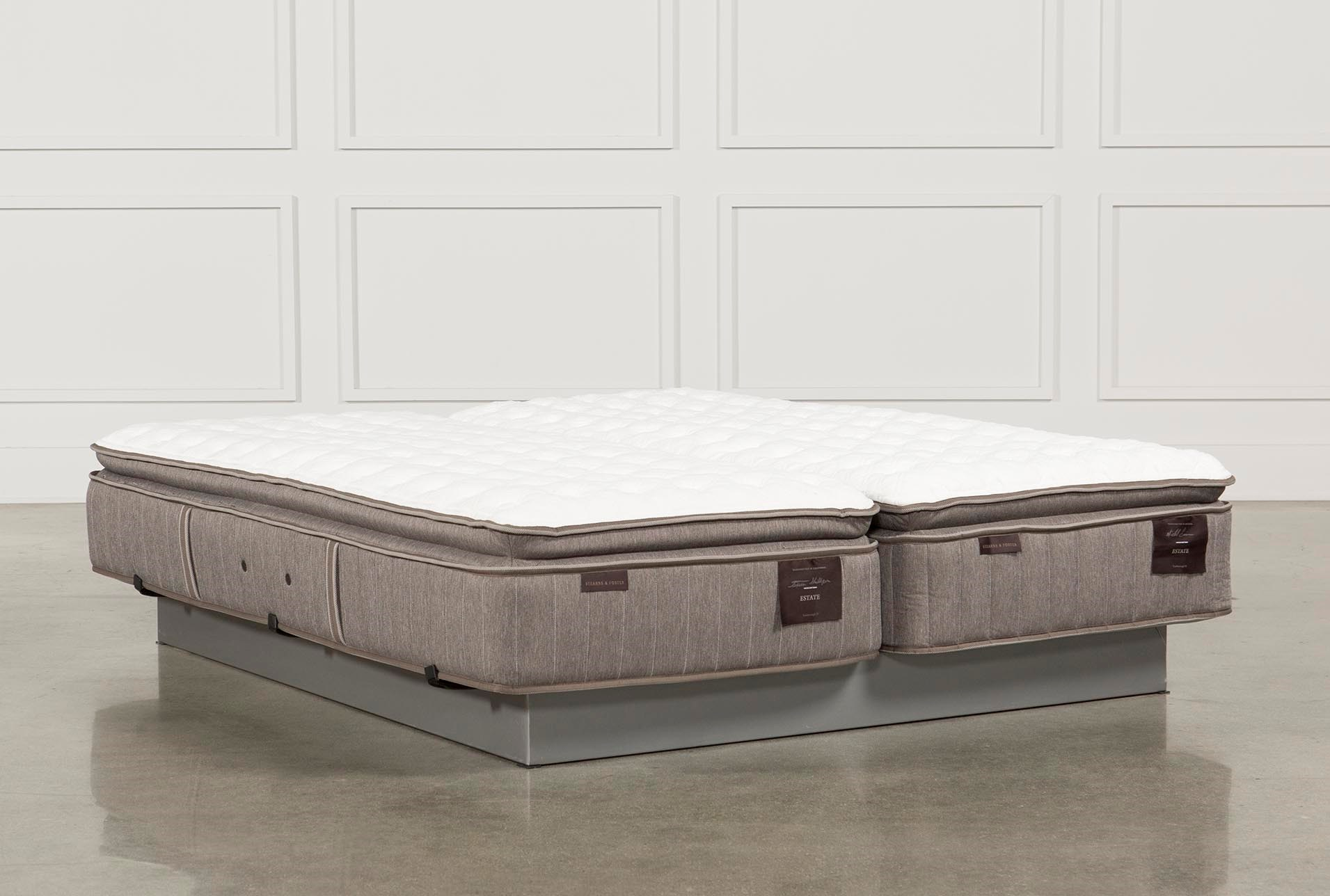 Scarborough Firm Euro Pillow Top Cal King Split Mattress Set Living Spaces