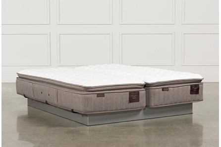 Scarborough Firm Euro Pillow Top Cal King Split Mattress Set - Main