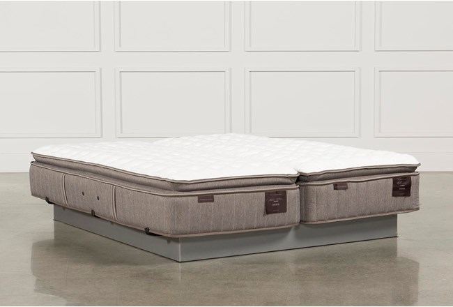 Scarborough Firm Euro Pillow Top Cal King Split Mattress Set - 360