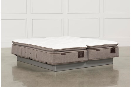 Scarborough Plush Euro Pillow Top Cal King Split Mattress Set - Main
