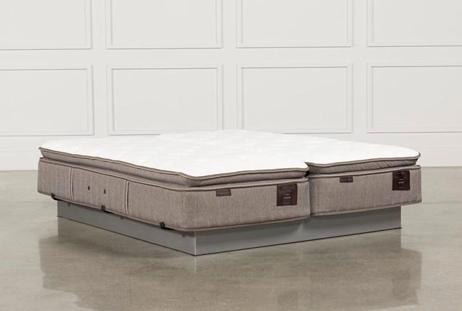 Scarborough Plush Euro Pillow Top Cal King Split Mattress Set - 360