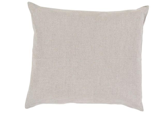 Accent Pillow-Barlow Solid Linen Grey 18X18 - 360