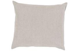 Accent Pillow-Barlow Solid Linen Grey 22X22