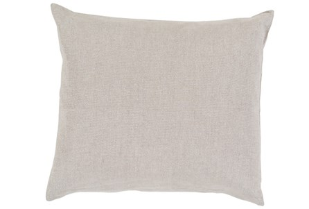 Accent Pillow-Barlow Solid Linen Grey 22X22