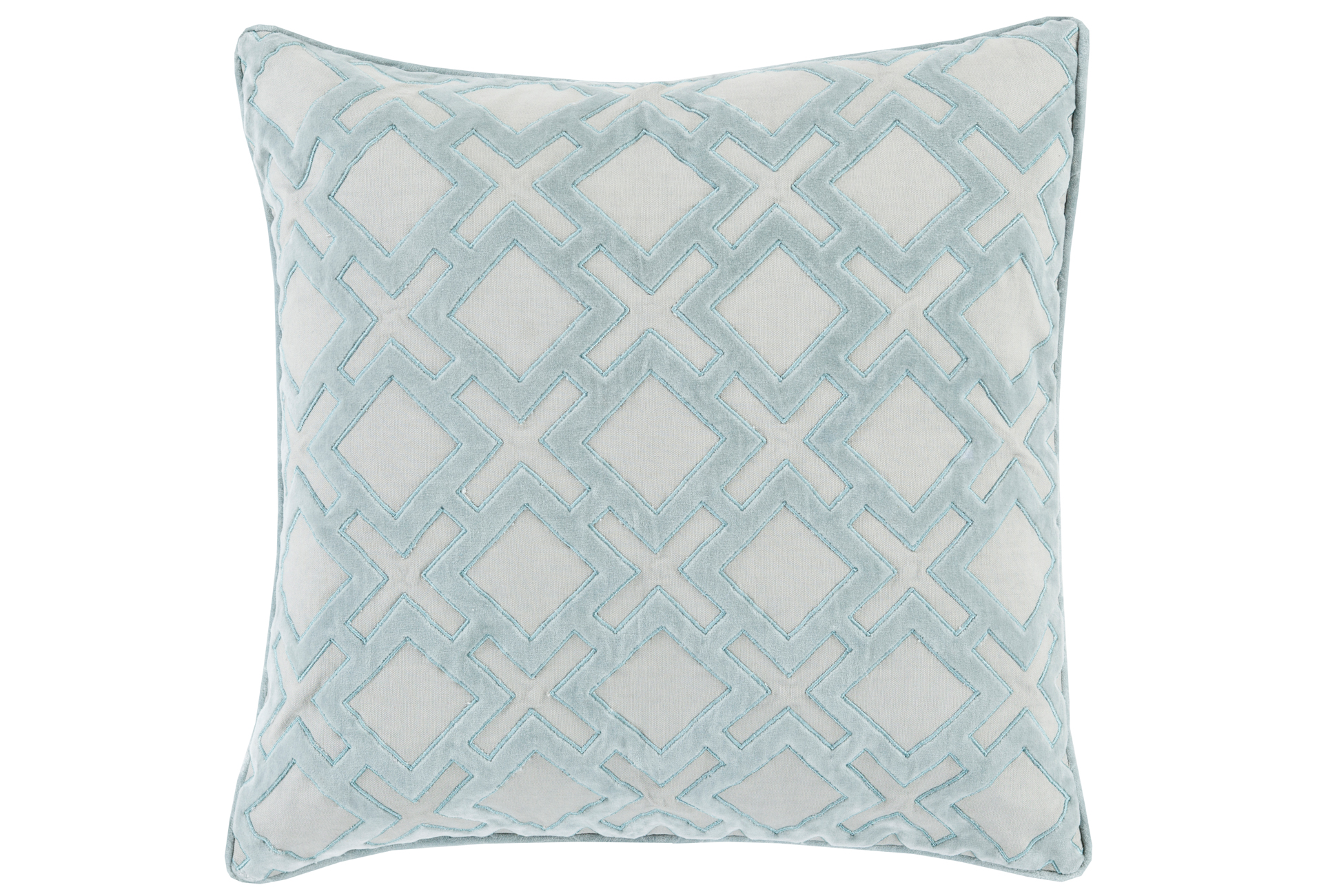Accent Pillow Avalon Geo Light Grey 20x20 Living Spaces