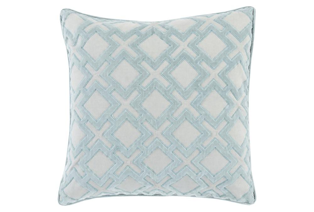 Accent Pillow-Avalon Geo Light Grey 22X22