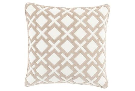 Accent Pillow-Avalon Geo Ivory 22X22