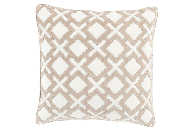 Accent Pillow-Avalon Geo Ivory 22X22 - 360