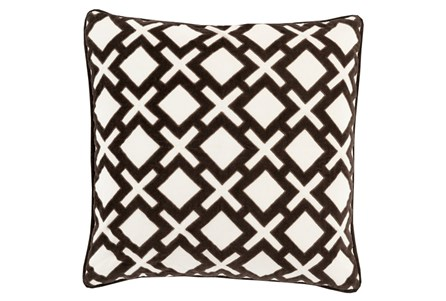 Accent Pillow-Avalon Geo Black/Ivory 22X22
