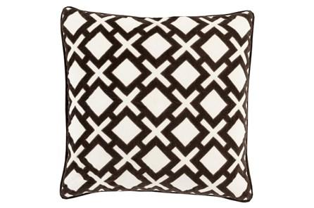 Accent Pillow-Avalon Geo Black/Ivory 22X22