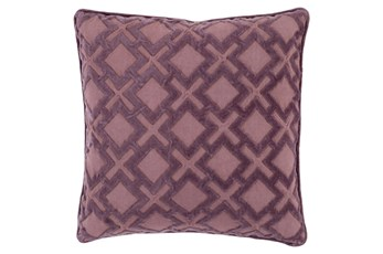 Accent Pillow-Avalon Geo Mauve/Charcoal 20X20