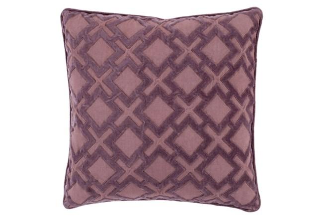 Accent Pillow-Avalon Geo Mauve/Charcoal 20X20 - 360