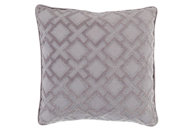 Accent Pillow-Avalon Geo Grey/Charcoal 20X20 - 360