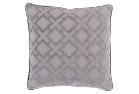 Accent Pillow-Abbott Geo Grey/Charcoal 22X22