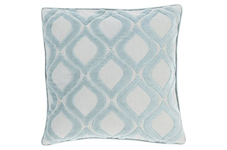 Accent Pillow-Abbott Geo Blue 20X20 - Main