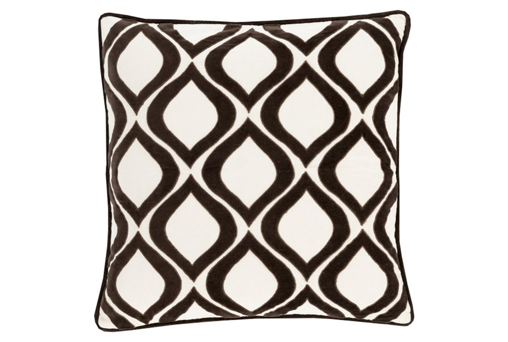 Accent Pillow-Abbott Geo Ivory/Black 20X20