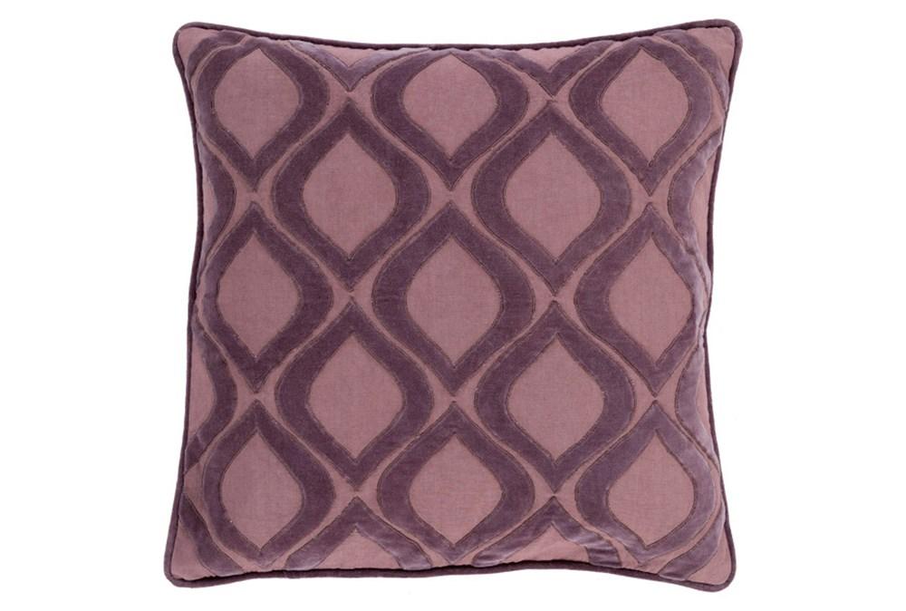 Accent Pillow-Abbott Geo Charcoal/Mauve 22X22
