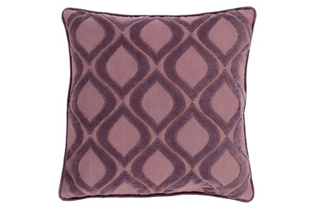 Accent Pillow-Abbott Geo Charcoal/Mauve 22X22