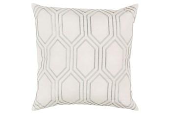 Accent Pillow-Natalie Geo Ivory/Light Grey 18X18