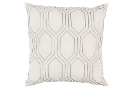 Accent Pillow-Natalie Geo Ivory/Light Grey 20X20