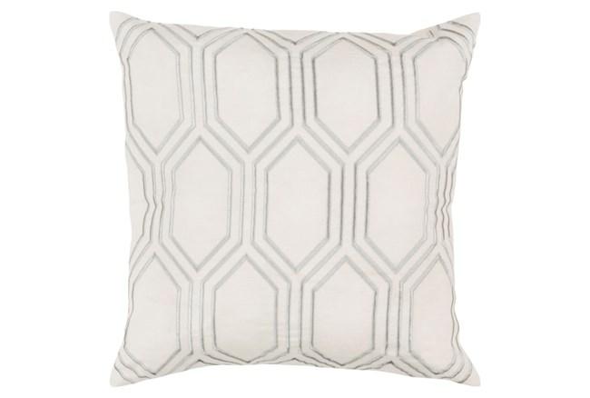 Accent Pillow-Natalie Geo Ivory/Light Grey 20X20 - 360