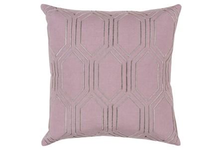 Accent Pillow-Natalie Geo Mauve/Light Grey 20X20