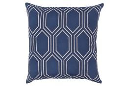 Accent Pillow-Natalie Geo Cobalt/Light Grey20X20