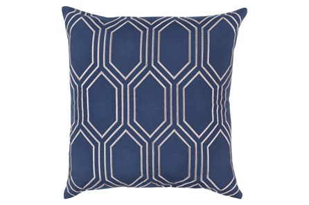 Accent Pillow-Natalie Geo Cobalt/Light Grey20X20